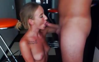 Nasty light-haired girlfriend deeply fucked in wet cum-hole