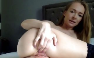 Nasty ex-girlfriend with hot body fingering delicious pussy