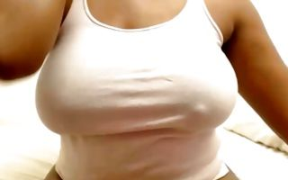 Stunning ex-girlfriend with huge booty fingering juicy cunt