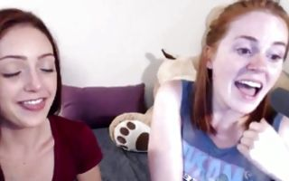 Two adorable amateur bitches have crazy lesbian sex