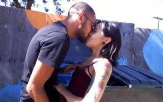 Marvelous Asian ex-girlfriend has rough sex outdoors