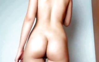 Hot brunette ex-girlfriend posing and playing with pussy