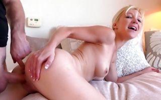 Nasty blonde girlfriend Laura Bentley has deep painful sex