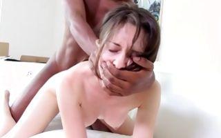 Cruel interracial sex with stunning brunette GF Natasha