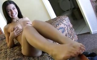 Watch my GF Ally with adorable body sucking meaty dick