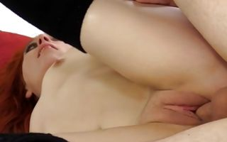 Fascinating redhead Ex-GF Nora nicely riding on knob