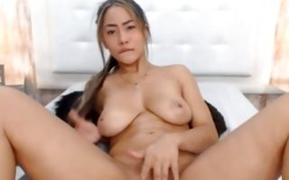 Tremendous Asian GF with hot body has painful sex