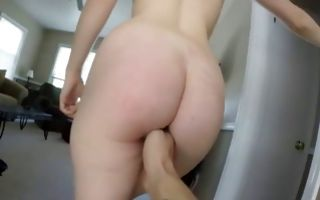 Awesome GF with round booty has painful passionate sex