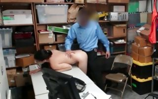 Hot amateur chick with round butt has deep painful sex